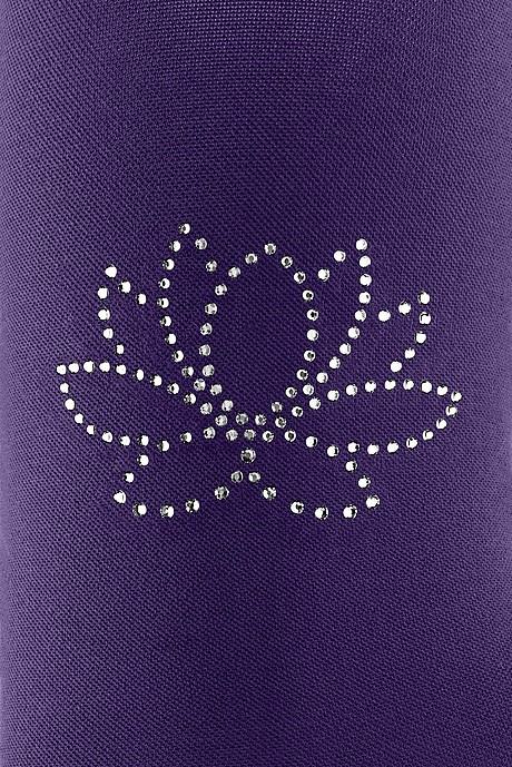 Mediven Kompressionsstrümpfe mit Swarovski Kristallen Motiv: Seerose in violett