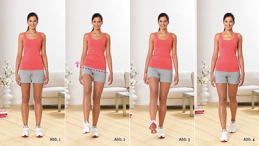 Physioübung Stechschritt