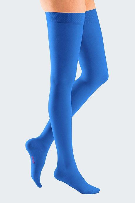 mediven plus Kompressionsstrümpfe Venentherapie royalblau