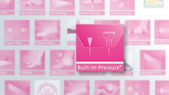 Built-In-Pressure System für unelastische circaid Kompressionsprodukte - Built-In-Pressure System für unelastische circaid Kompressionsprodukte