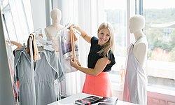 Modedesign-Absolventin Fabienne Fischer