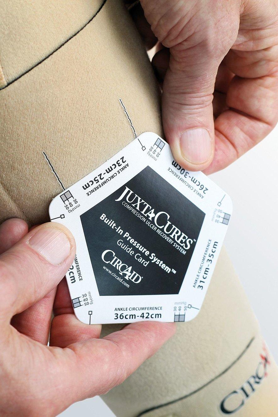 circaid Built-In-Pressure system Prüfkarte von medi - circaid Built-In-Pressure system Prüfkarte von medi
