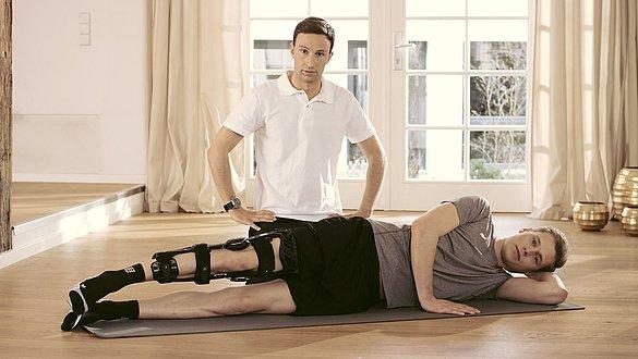 Physioübungen zur Unterstützung der Therapie bei Verletzungen des hinteren Kreuzbandes