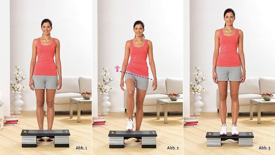 Physioübung Step-Up  - Physioübung Step-Up