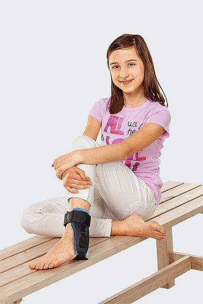 Orthese für Kinder Sprunggelenk mit Polsterung