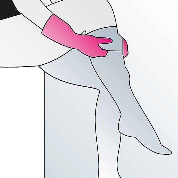 Kompressionsstrümpfe anziehen Anleitung Schritt 9