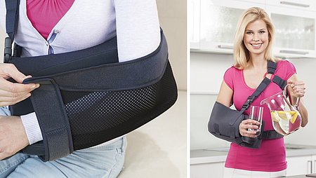 Shoulder supports for frozen shoulders from medi
