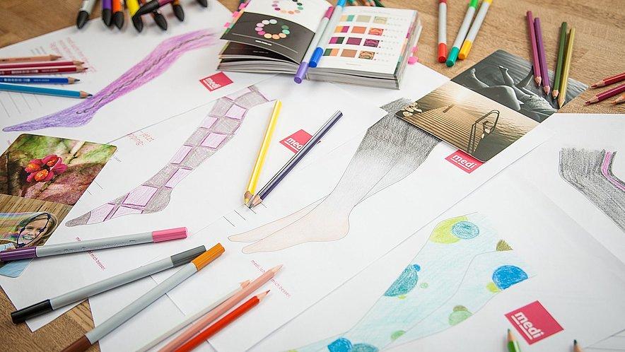 Impressionen Malwettbewerb mediven Flachstrick Trendfarben - Impressionen Malwettbewerb mediven Flachstrick Trendfarben