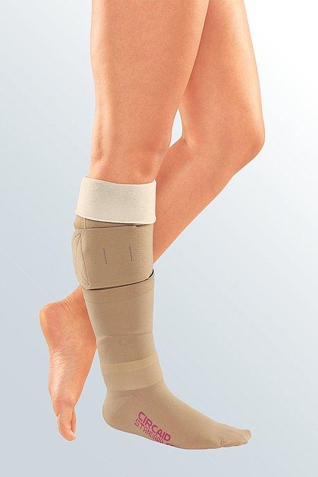 Wundbehandlung Kompression unelastisch Bein