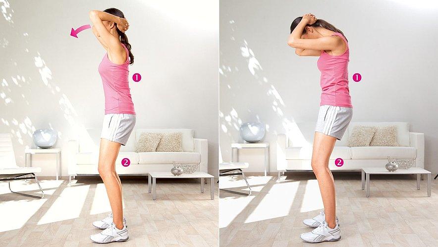 Übung zur Dehnung der Nackenmuskulatur - Übung zur Dehnung der Nackenmuskulatur