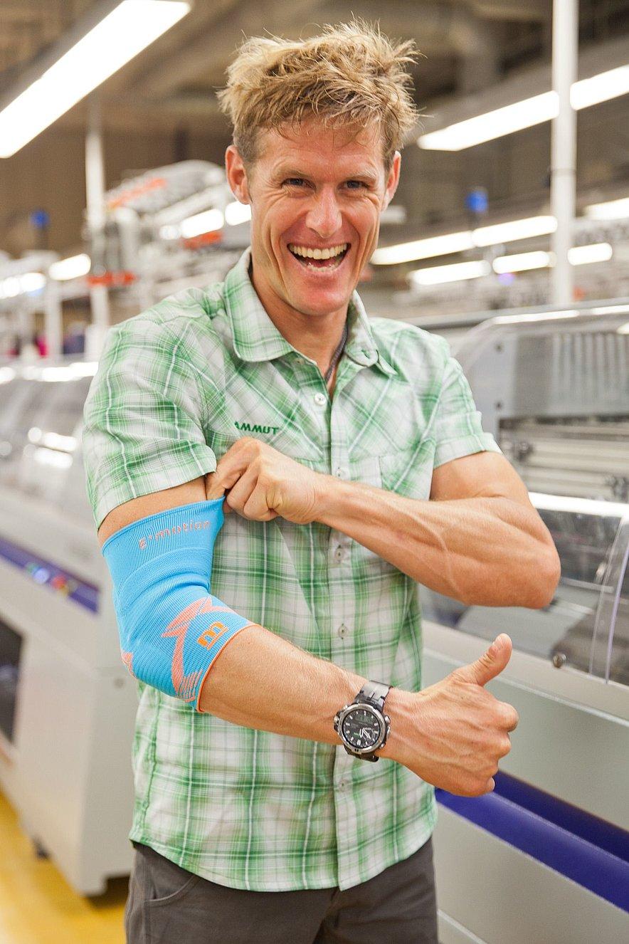 Stephan Siegrist zu Besuch in medis Produktion