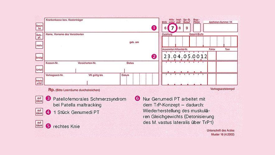 Rezeptbeispiel für Genumedi PT Bandage -