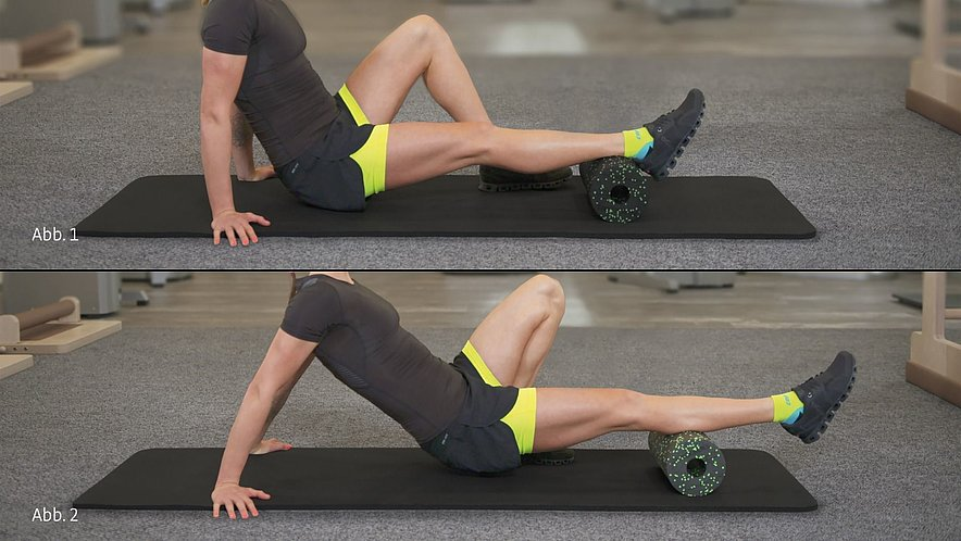 patella tip syndrome physiotherapy exercise calf rolling