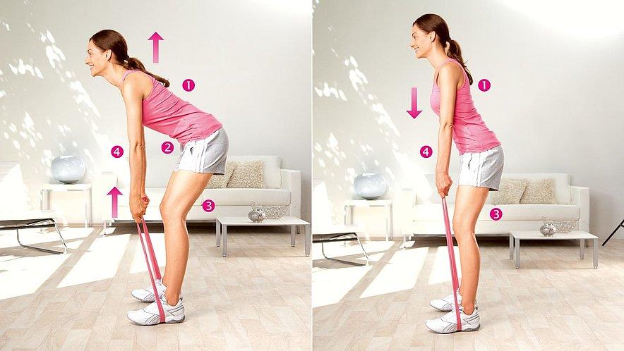 Übung zur Kräftigung der unteren Rückenmuskulatur - Übung zur Kräftigung der unteren Rückenmuskulatur