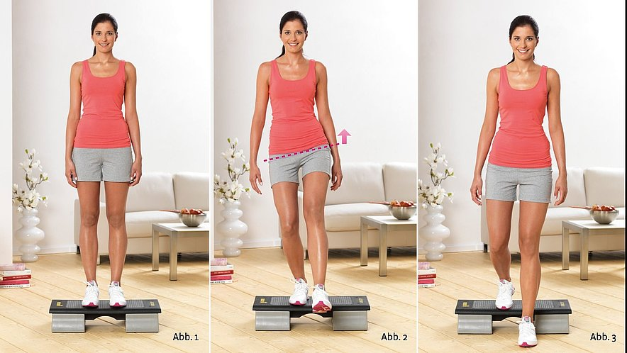 Physioübung Step-Down