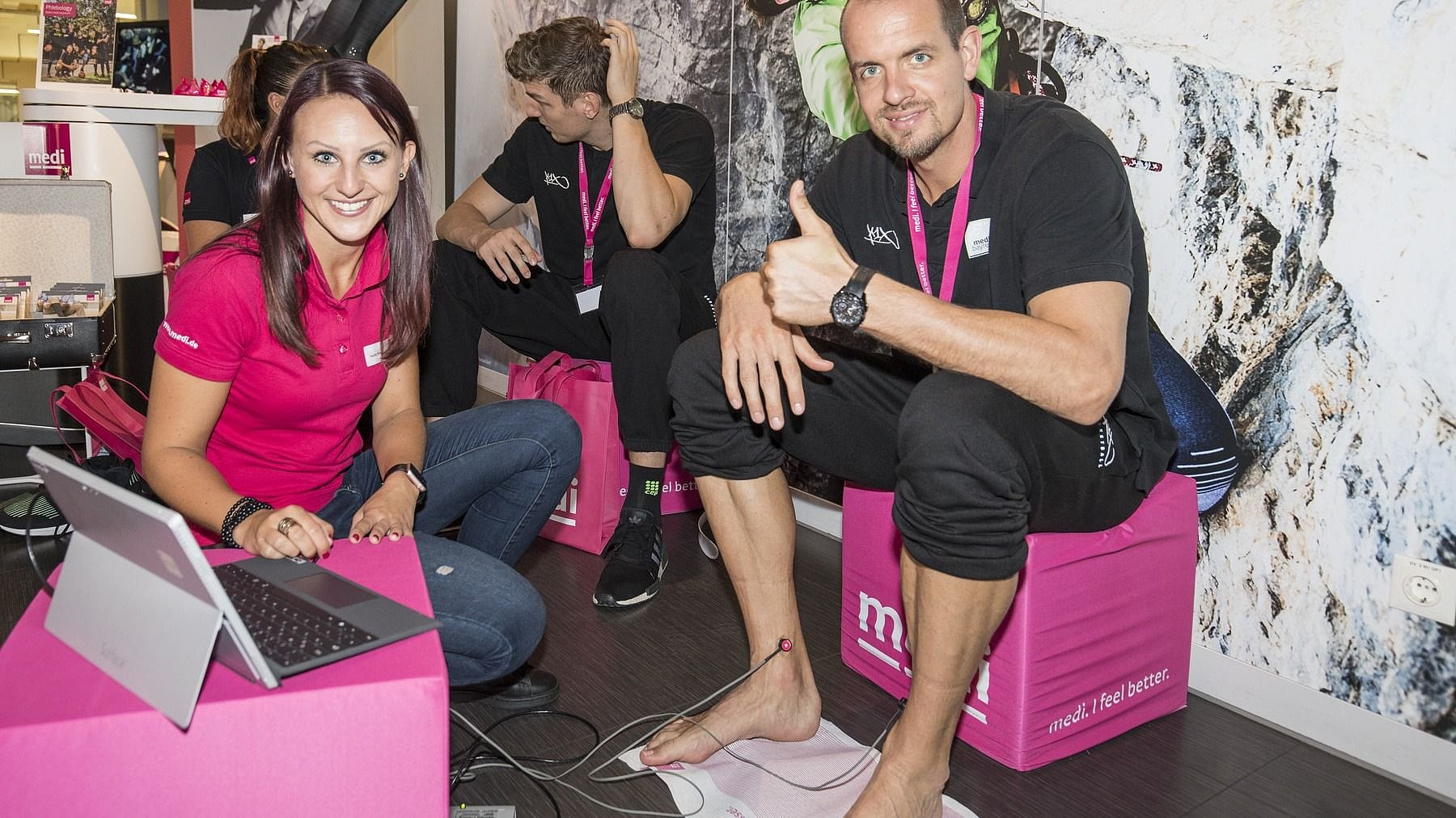 medi bayreuth Füße vermessen