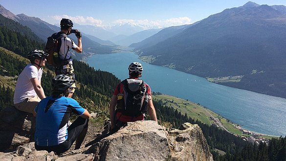 Crossing the Alps on a mountain bike