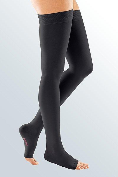 mediven forte compression stockings open toe black