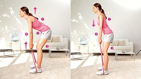 Trunk bends: Exercise to strengthen the lower back muscles - Trunk bends: Exercise to strengthen the lower back muscles