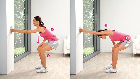 Trunk pulls: Exercise to stretch the lateral trunk muscles