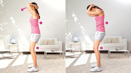 Head presses: Exercise to stretch the neck muscles - Head presses: Exercise to stretch the neck muscles