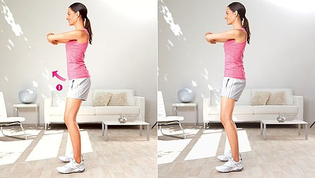 Hip tilt: Exercise to stretch the groin region and the hip flexors