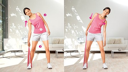 Side pulls: Exercise to strengthen the lateral trunk muscles