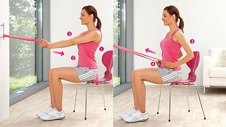 Hip pulls: Exercise to strengthen the back muscles / the large back muscle - Hip pulls: Exercise to strengthen the back muscles / the large back muscle