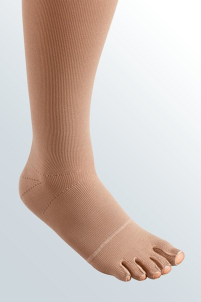 mediven mondi compression stockings sewed toe cap caramel