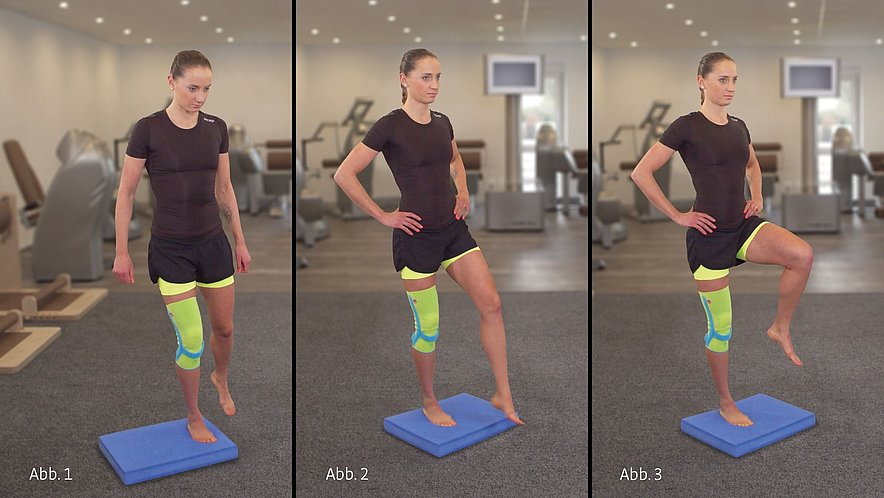 Physiotherapy exercise standing on one leg - Physiotherapy exercise standing on one leg