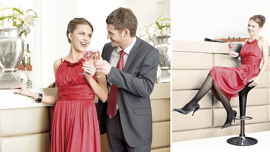 Mediven sheer and soft compression stockings for venous insufficiency
