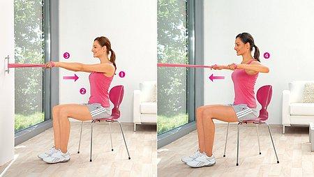 Shoulder pulls: Exercise to strengthen the upper back and posterior shoulder muscles - Shoulder pulls: Exercise to strengthen the upper back and posterior shoulder muscles