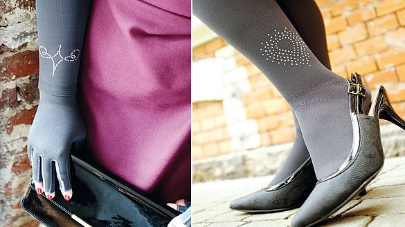 Swarovski crystals for all mediven compression stockings