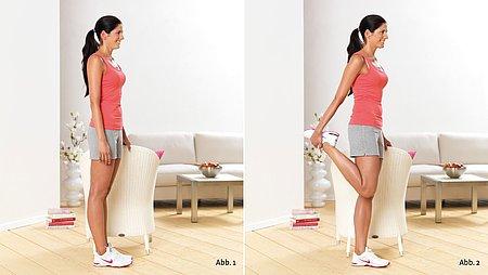 Standing quadriceps stretch - Standing quadriceps stretch