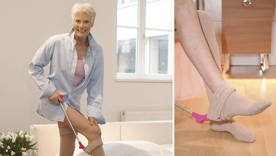 Medi Butler off: Doffing aid for compression stockings