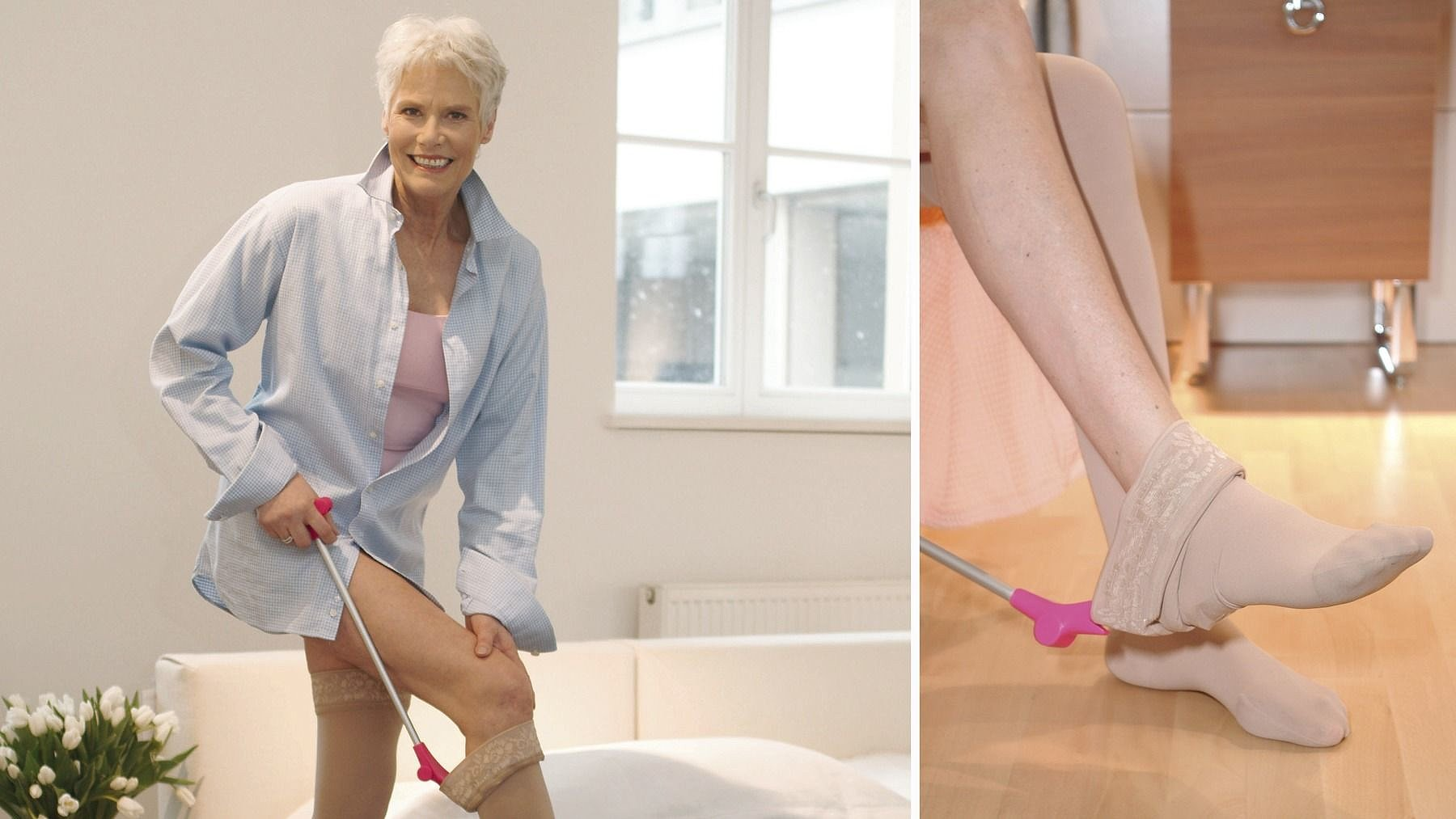 Medi Butler off: Doffing aid for compression stockings