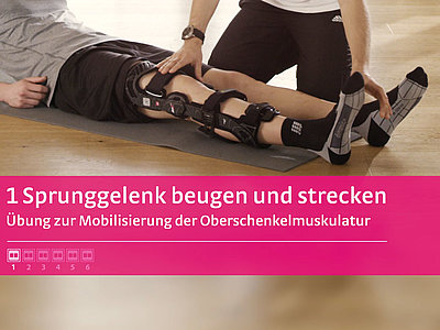 M.4s® PCL dynamic Übung Sprunggelenk beugen und strecken