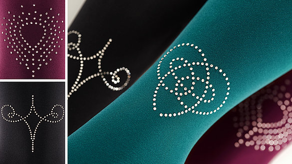 Strong mediven colours and Swarovski® crystals