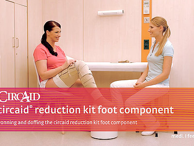Donning and doffing the circaid reduction kit foot component