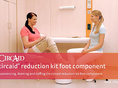 Customizing, donning and doffing the circaid reduction kit foot component