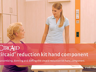 Customizing, donning and doffing the circaid reduction kit hand component