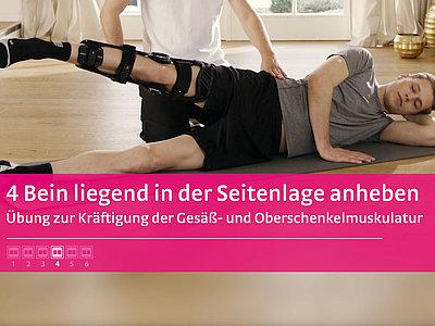 M.4s® PCL dynamic Übung Bein liegend in der Seitenlage anheben