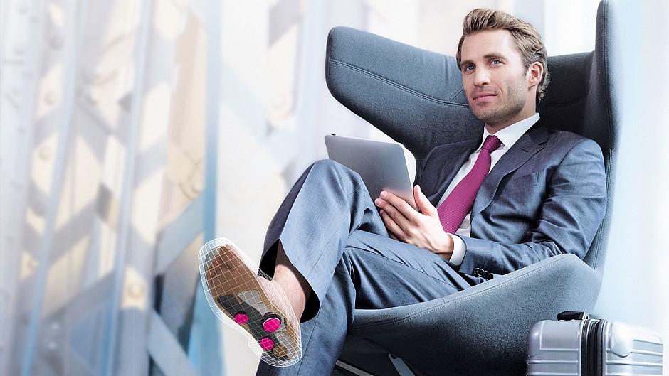 igli Business Silver Carbon-Einlagen Mann Sessel medi