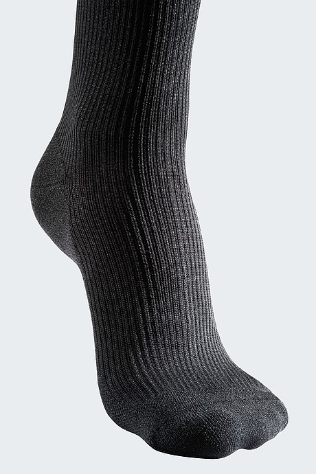 schwarze Fußspitze Kompressionsstrümpfe für Männer