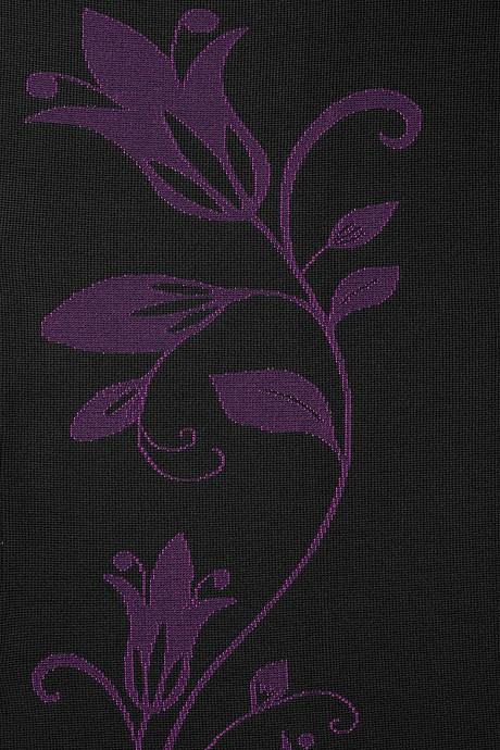 mediven 550 flachgestrickte Kompressionsstrümpfe Beere mit Blumenmuster
