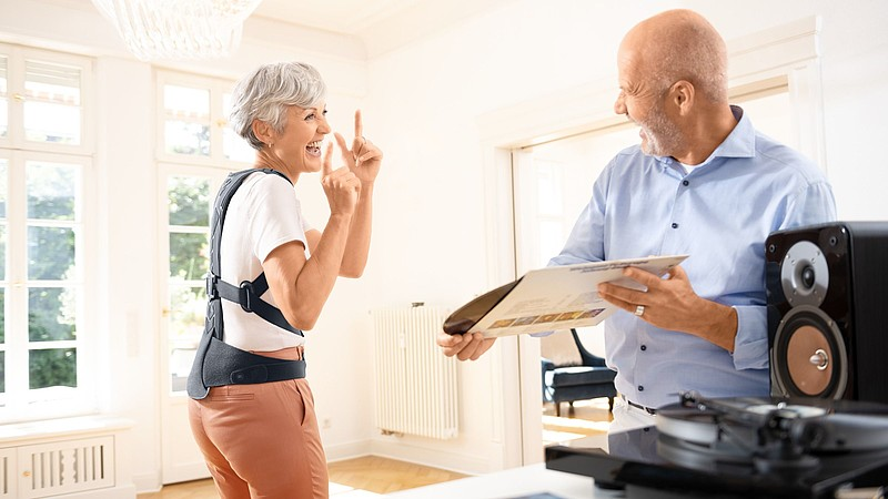 Osteoporosis therapy with Spinomed back orthoses