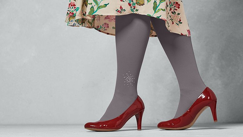 mediven compression stockings with sparkling crystals