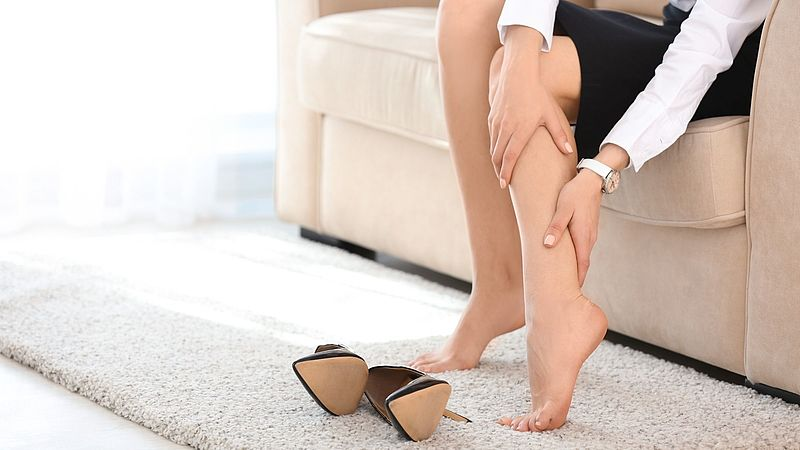 What should you do in the case of leg vein thrombosis?