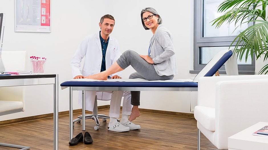 Untersuchung Arzt Wundtherapie circaid