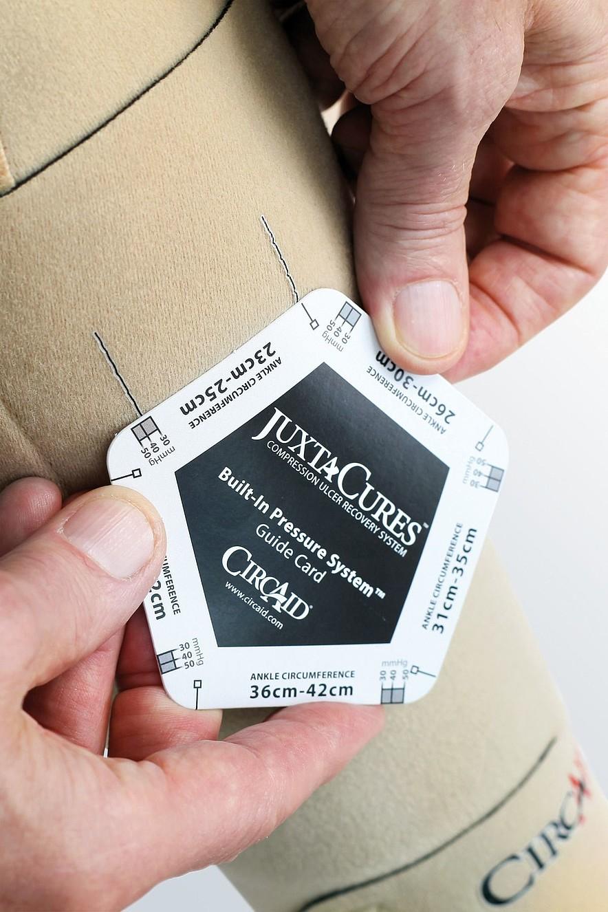 circaid Built-In-Pressure system Prüfkarte von medi